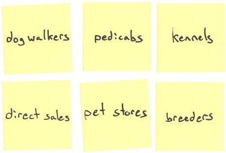 Channels - Dump and Sort for Puppies-as-a-Service business model canvas example