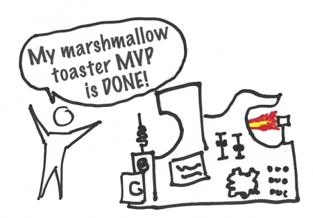 Minimum Viable Product - Marshmallow toaster