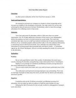 Tech chat AAR document part 1.