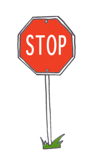 A stop sign, lean template