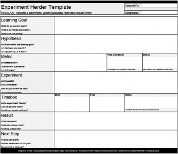 Experiment herder template