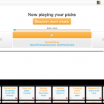 Now playing your picks page