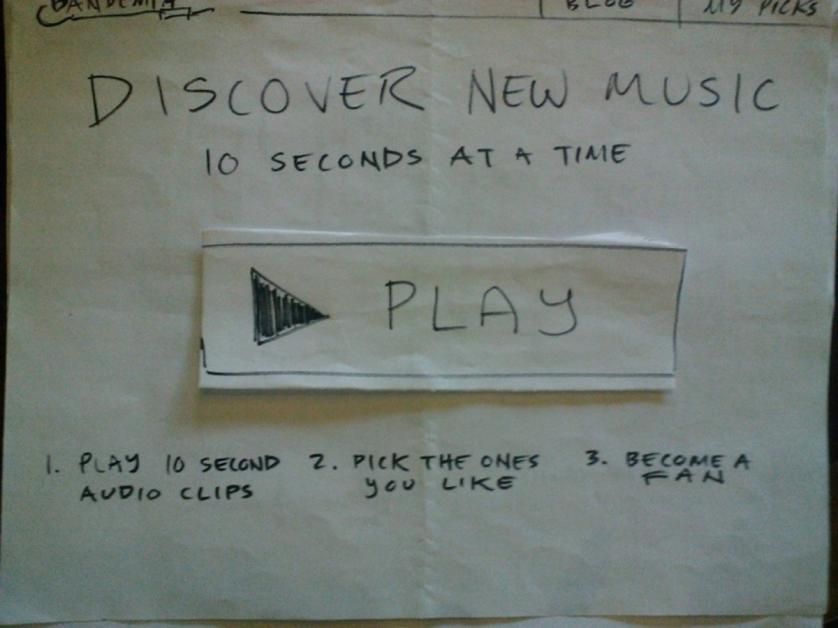 Paper prototype to test 1