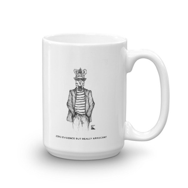 "Fear the Z.E.B.R.A."" coffee mug"