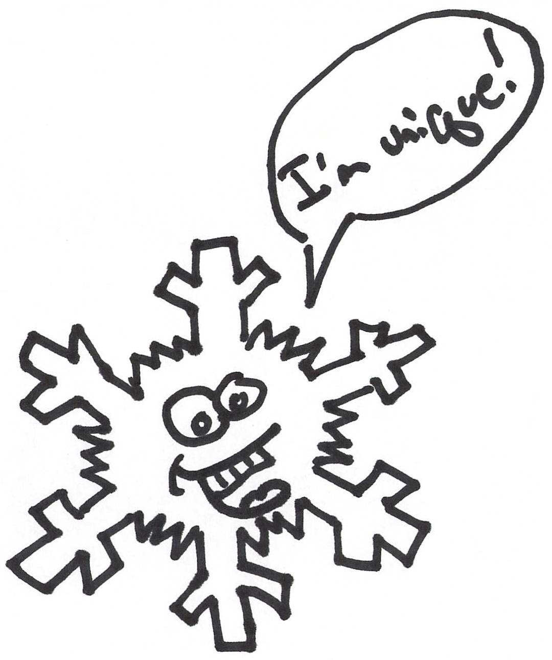 A unique snowflake