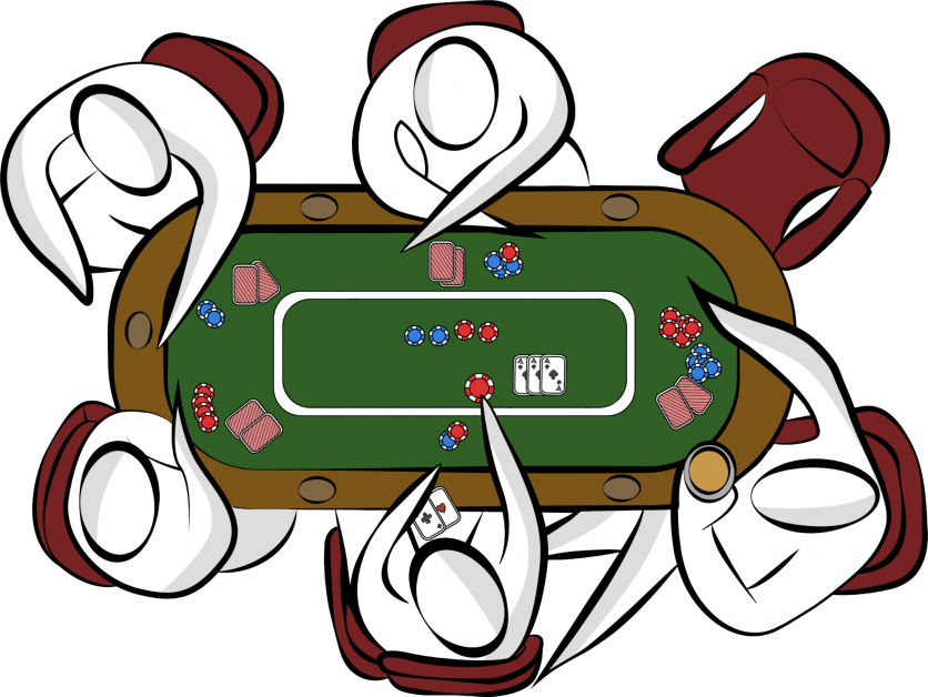 A group of people playing poker part 2