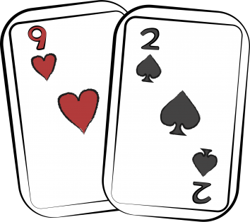 2 Of spades and 9 of hearts