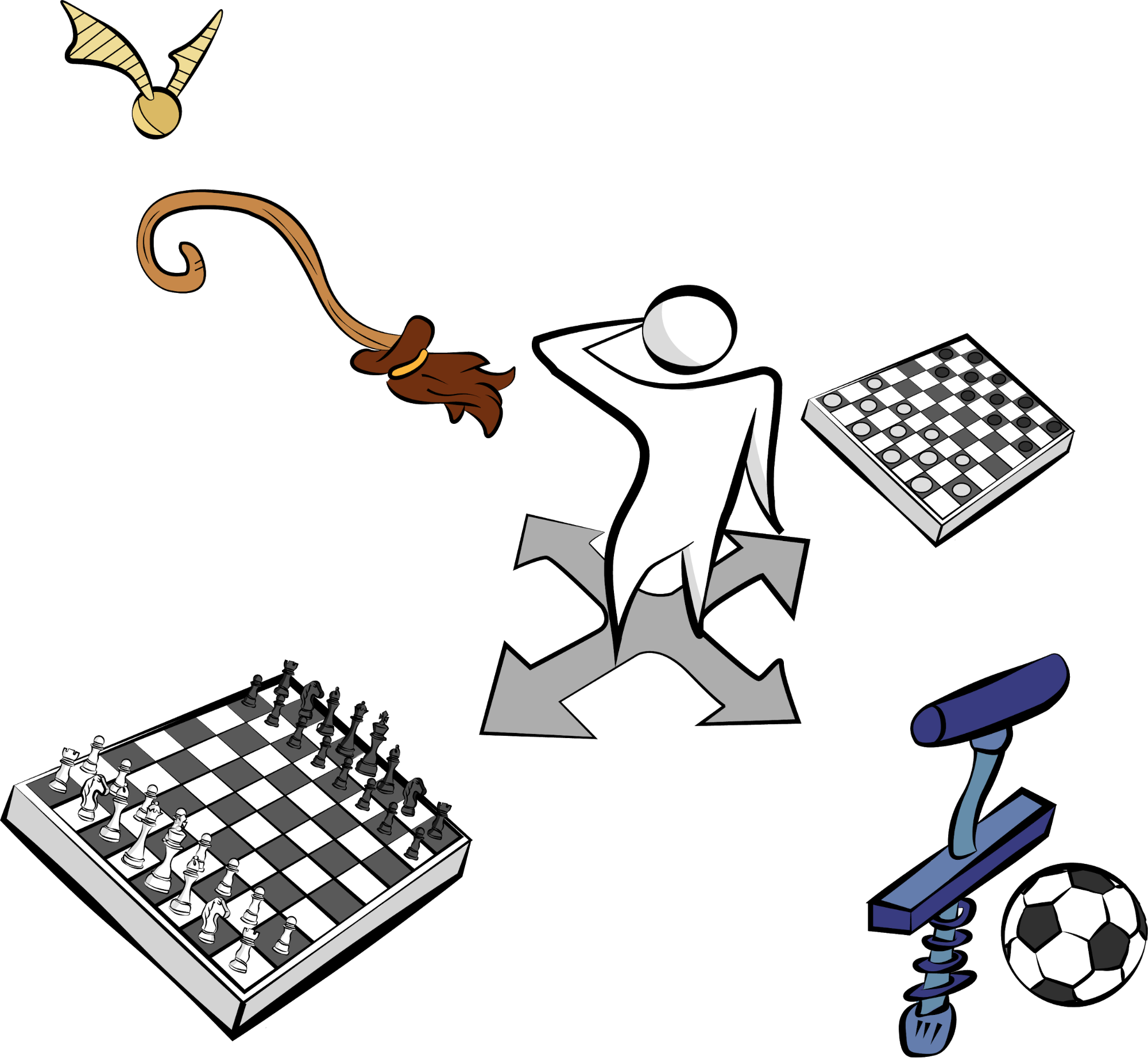 Decision between checkers, chess, Quidditch, and Calvin Ball