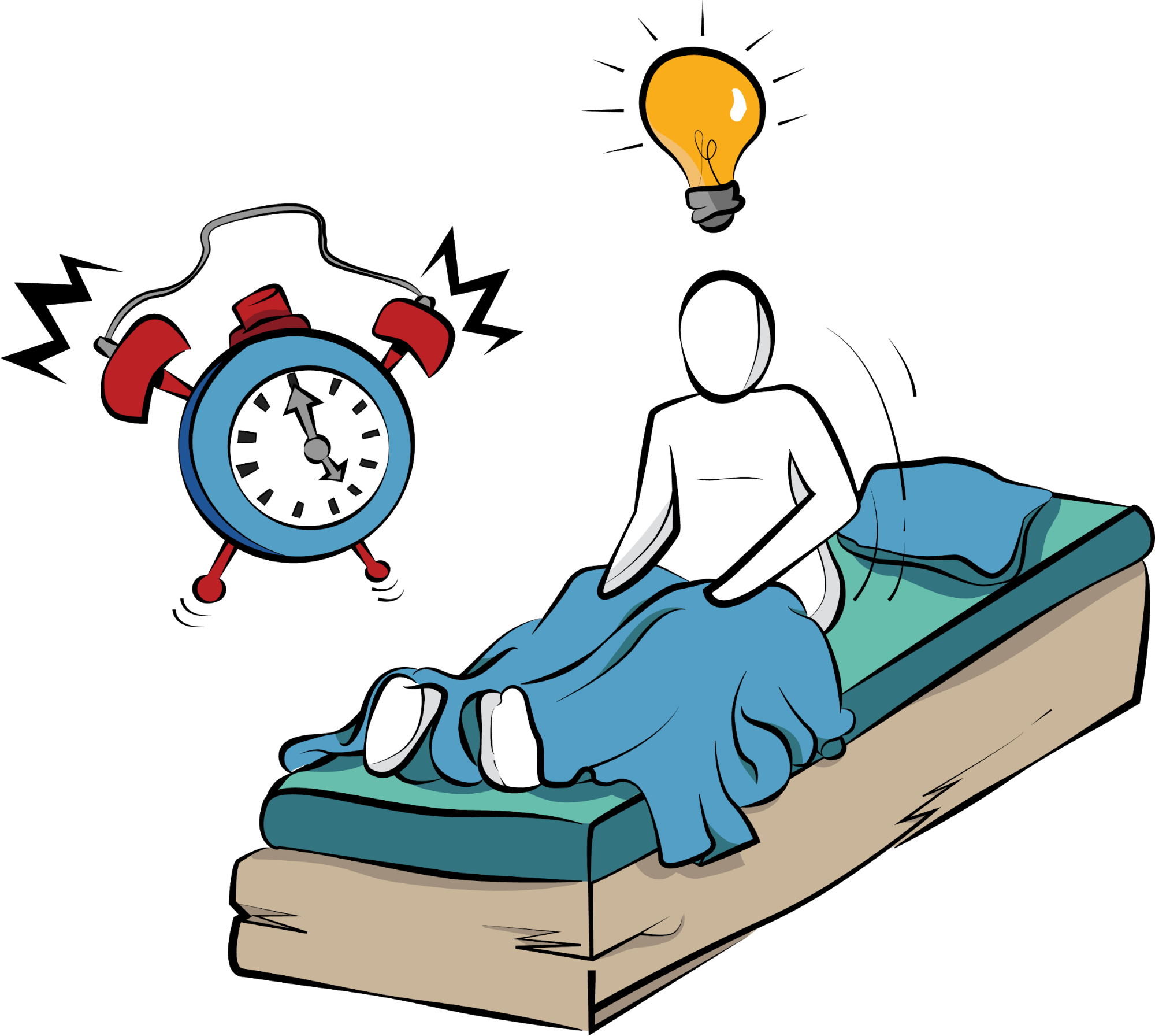 Preparing a creative task the night before helps you leap out of bed and start working.