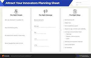 Attract Your Innovators Planning Sheet