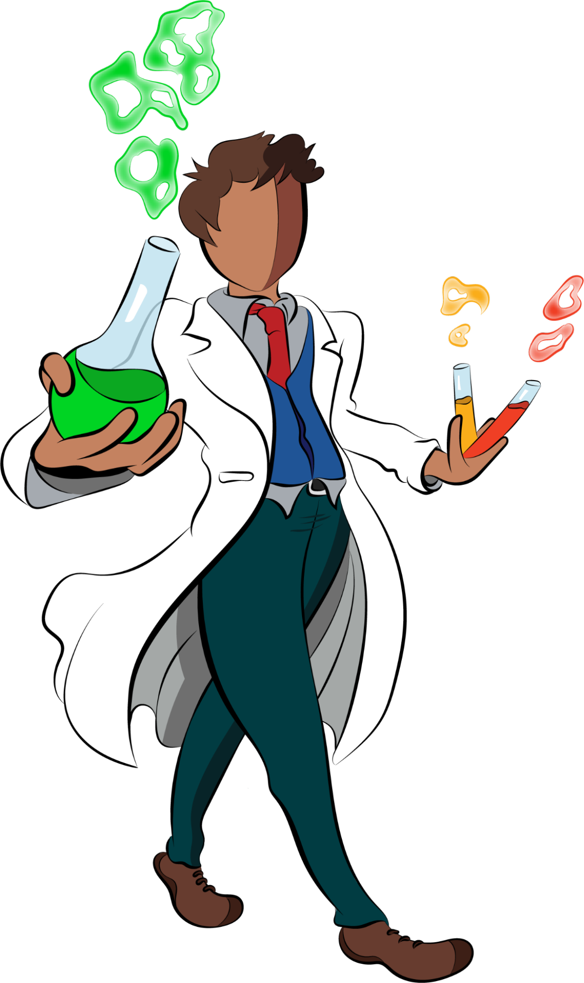 Hey look I'm a scientist and I'm carrying science things!